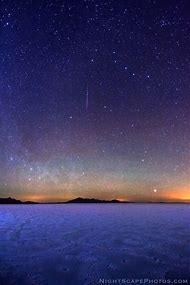 Beautiful Night Sky Shooting Star