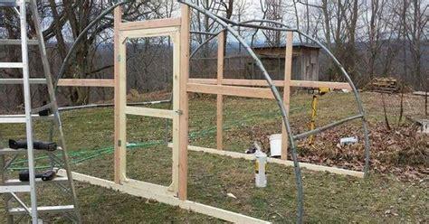 trampoline frame  greenhouse  chicken coop
