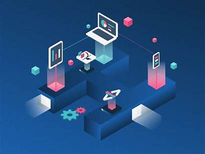 Isometric Animation Illustration Digital Icon Web Flat