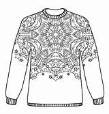 Christmas Jumpers Jumper Pattern Colouring Coloring Adult Patterns Pages Kleurplaat Hobbycraft Sweater Draw Printable Sweaters Sheets Crafts Nl Craft Topkleurplaat sketch template