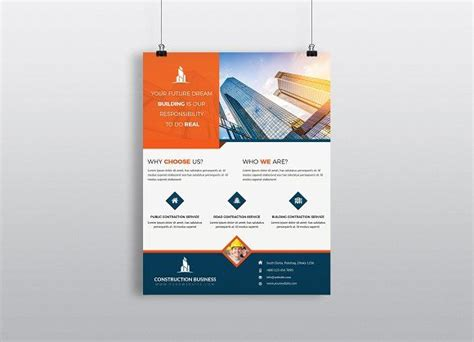 construction business flyer template  images