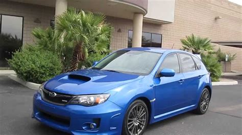 subaru wrx hatchback wagon rally blue  clean