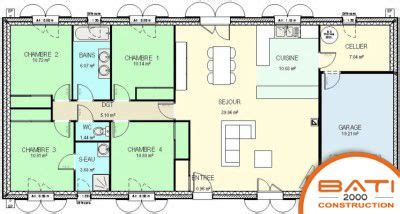 plan maison 6 chambres plan maison traditionnelle plain pied 116 m 4 chambres