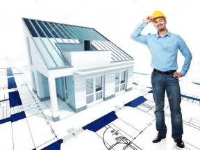 designing house plans architect with his project stock photo jukai5 5305858