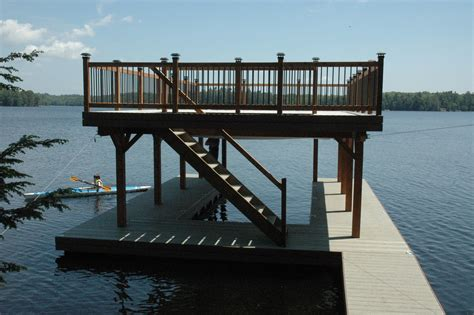 Boat Dock Plans And Designs by Covered Boat Dock Plans Floating Boathouse Lake Ideas
