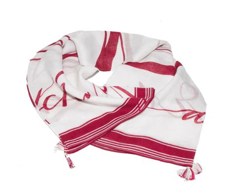 Foulard Copridivano Rosso : Foulard A x Armani Exchange Da Donna Bianco Con Logo