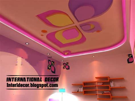 cool  modern pink false ceiling design  kids room interior false gypsum ceiling ceiling designs false ceiling design colored ceiling