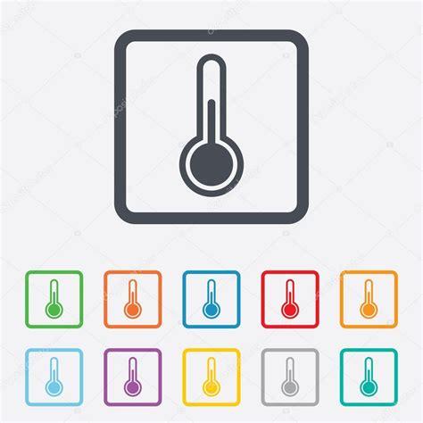 Thermometerzeichen. Temperatursymbol. — Stockvektor ...