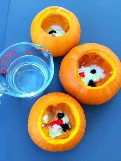 fun fall preschool project mini pumpkin volcanoes