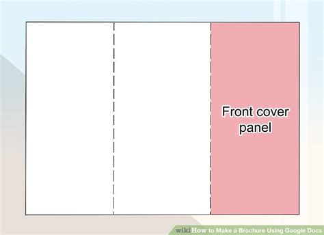 docs booklet template how to make a brochure using docs wikihow