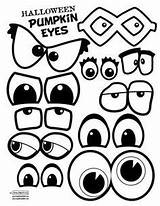 Eyes Template Pumpkin Halloween Faces Eye Pumpkins Clipart Printable Crafts Drawing Face Mouths Painted Mouth Ghost Blank Cartoon Fun Templates sketch template