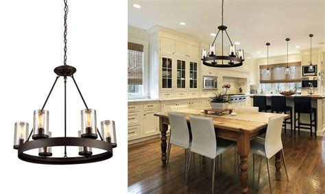 Lighting Your Rustic Modern Home Kitchen Countertops Designs Vinyl Flooring Kitchens Floor Tile Trendy White Cabinets With Dark Granite Water Resistant Laminate Black And