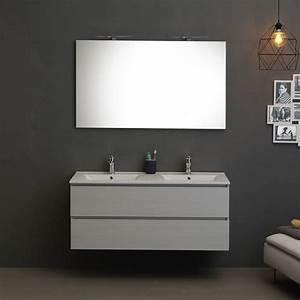 Mobile per bagno con lavabo doppia vasca 120 cm grigio for Mobile bagno 120