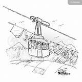 Cable Cartoon Lift Ski Funny Cartoons Cartoonstock Comics sketch template