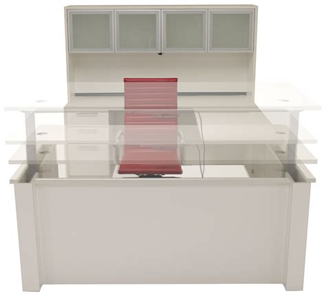 adjustable height executive desk adjustable height u shaped executive office desk in white