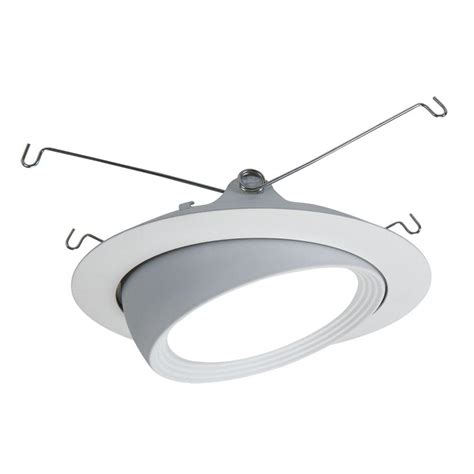recessed lighting eyeball replacement halo 5 in matte white led recessed lighting eyeball trim