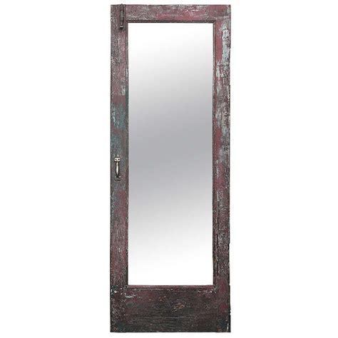 floor mirror oak antique american craftsman oak wood mirror door c 1910 at 1stdibs