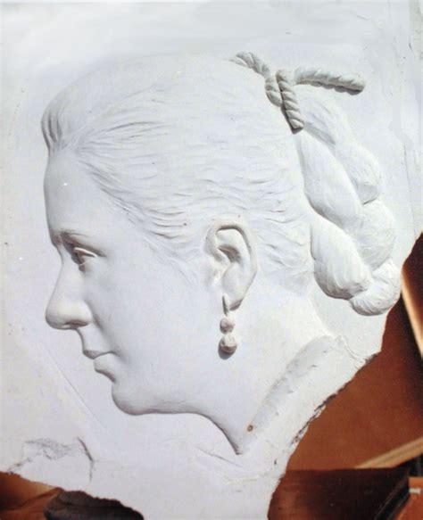 bas relief sculpture portrait bust bas relief
