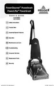 bissell carpet cleaner 1370 user s guide manualsonline com