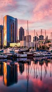 Wallpaper San Diego, harbor, Sunset, sunrise, water