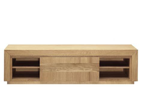 canapé made meuble tv symphonie 1 porte et 2 étagères chêne huilé