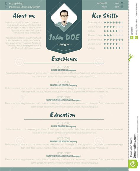 Cool New Resume Design by Cool New Modern Resume Curriculum Vitae Template With Design Ele Stock Vector Image 55406595