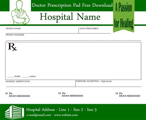 Prescription Pad Template Prescription Pads Template For Doctors Ninareads