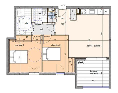 plan appartement 2 chambres appartement neuf t3 en corse casaluna immobilier