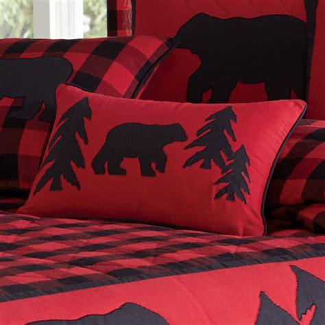 black bear retreat bear  trees rectangle pillow