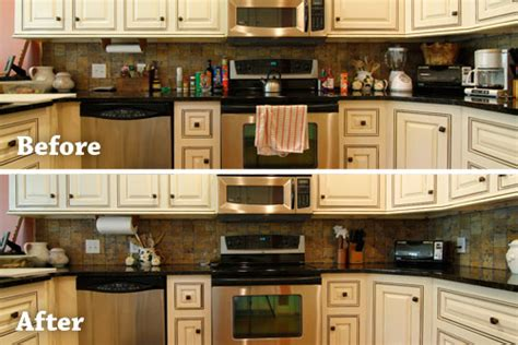 how to organize kitchen counter clutter clutter free kitchen turning leaf organizing 8769
