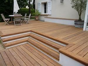 Support Terrasse Bois : terrasse dalle sur plot bois id es de ~ Premium-room.com Idées de Décoration