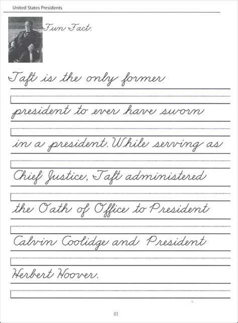 44 united states presidents character writing worksheets