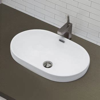 decolav  cwh semi recessed oval lavatory sink