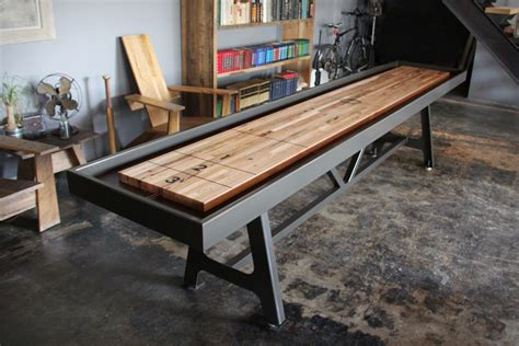 making a shuffleboard table district mfg shuffleboard table uncrate