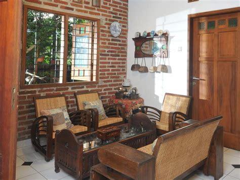 desain ruang tamu rumah lurus sederhana  kampung