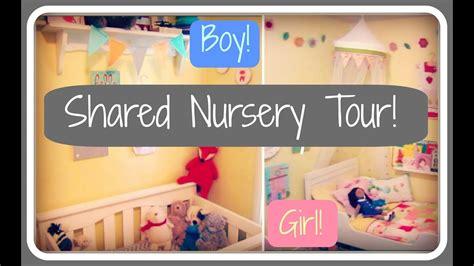 Nursery Tour! Boy + Girl Shared Room!