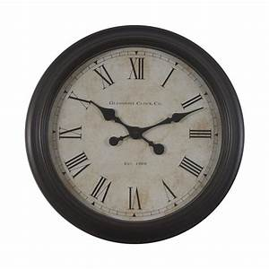 shop decor therapy glenmont global analog round indoor With kitchen cabinets lowes with clocks wall art