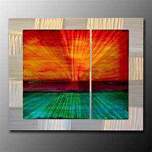 Extra large metal wall art paintings and