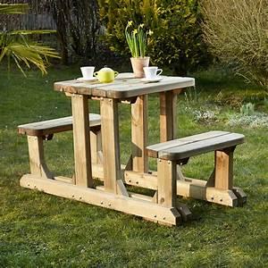 Table Bois Pique Nique : jardin table pique nique bois ~ Melissatoandfro.com Idées de Décoration