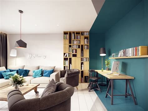 Modern Apartment : A Stunning Apartment With Colorful Geometric Design