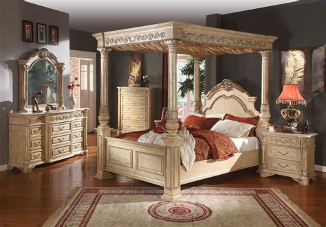 25990 canopy bedroom sets shore king size poster canopy bed from millennium by