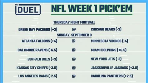 printable nfl weekly pick em sheets  week