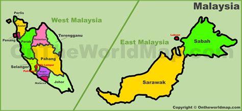malaysia states map