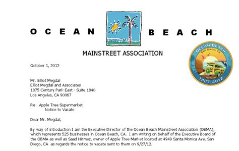 ocean beach mainstreet association appeals  la owner