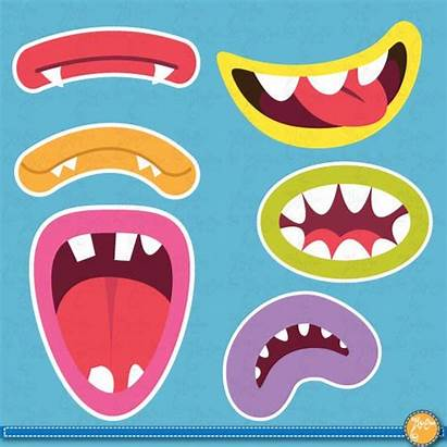 Monster Clip Mouths Monsters Printable Booth Crafts