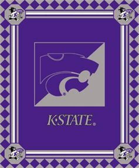 kansas state collegiate home field rug ksu emaw wildcats