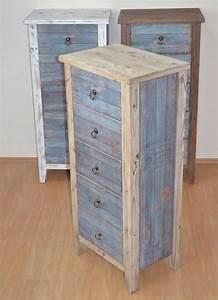 Kommode Vintage Weiß : kommode hochkommode im vintage look in wei blau 259 00 eu ~ Orissabook.com Haus und Dekorationen