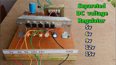 diy simple separated dc voltage regulator 5v 6v 8v 9v 12v 15v etc easy to make at home