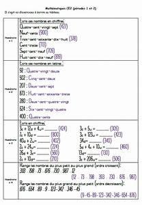 Banque Exercices Math U00e9matiques Ce2  P U00e9riode 1 Et 2