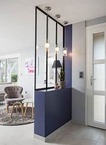 mur separateur vitre 23 idees pour ouvrir fermer l39espace With porte d entrée pvc avec mini salle de bain wc